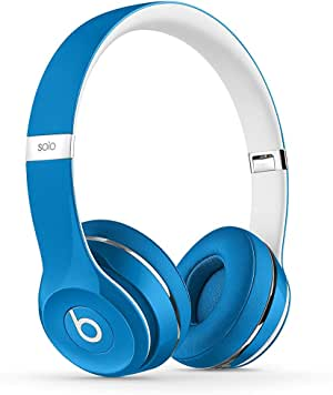 Beats Solo2 On-Ear Headphone Luxe Edition - Blue (WIRED, Not Wireless) (Renewed)