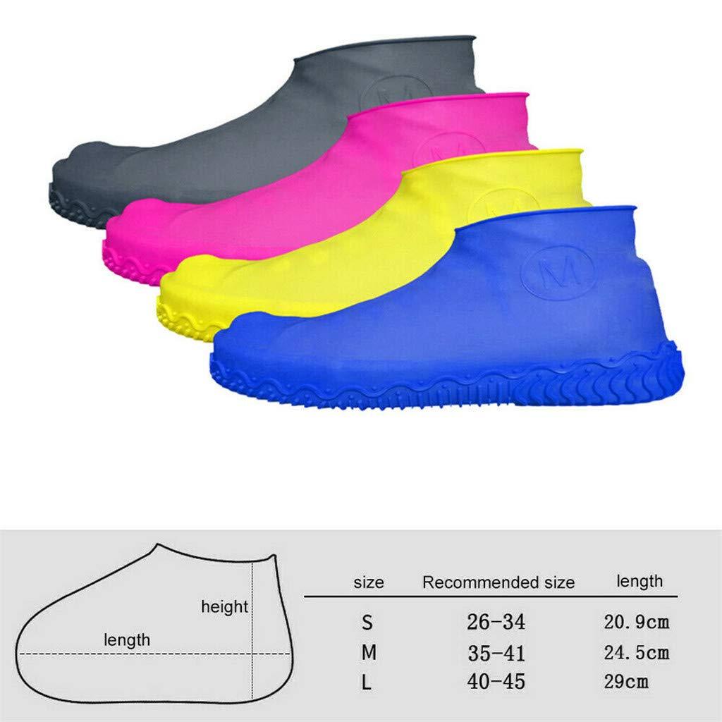 KAKALOR Waterproof Rain Shoe Covers Hot Anti-Slip Reusable Latex ...
