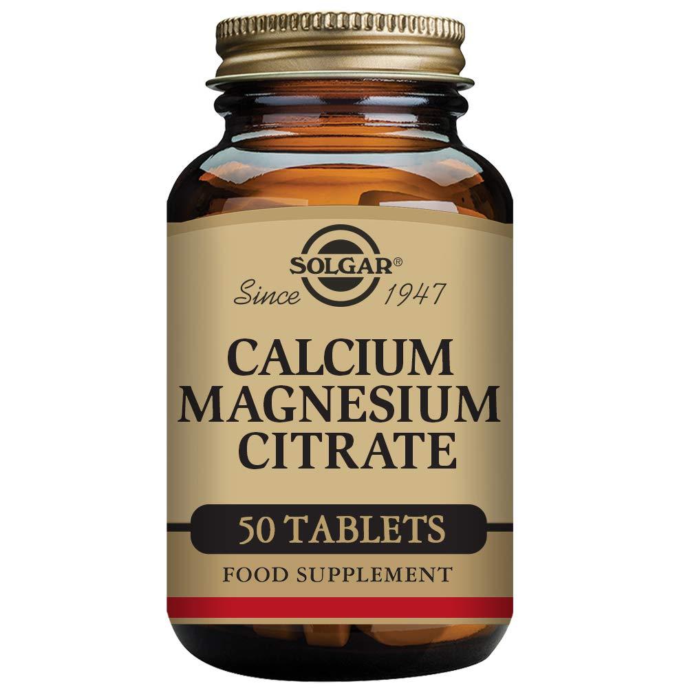 Solgar Calcio Magnesio Citrato - 50 Tabletas: Amazon.es: Salud y cuidado personal