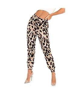 GreatestPAK_Pantalon Pantalon à imprimé léopard, à Taille élastique Femmes entraînement Sportif Leggings Streetwear