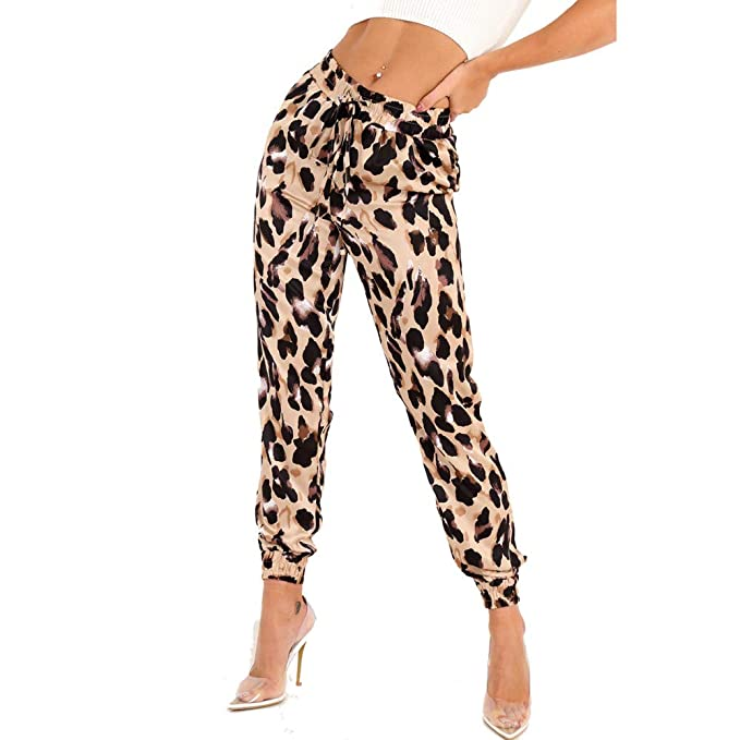 Amazon.com: BOLUOYI Womens Plus Capris Womens Leopard Print ...