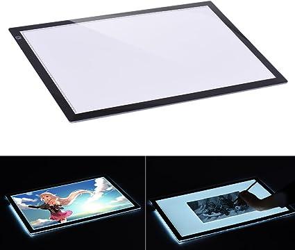 Aibecy Mesa de Luz Tableta Caja Dibujo A2 LED Portátil para calcar ...
