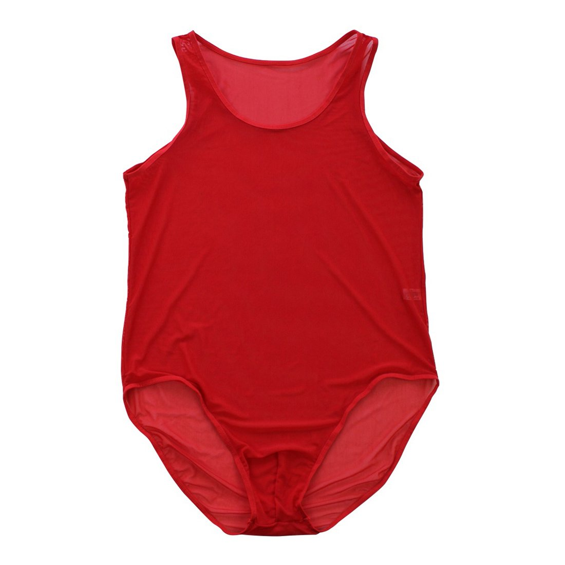 FEESHOW Men's Mesh Jockstrap Bodysuit Soft Bikini Briefs Underwear Lingerie