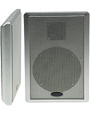 Chilitec Lot de 2 Haut-parleurs à Panneau Plat Surround 40 W 2 Voies Argent
