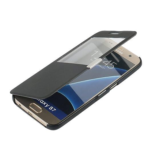 68 opinioni per Cover Samsung Galaxy S7, MTRONX Custodia Case Finestra Vista Ultra Foglio Flip