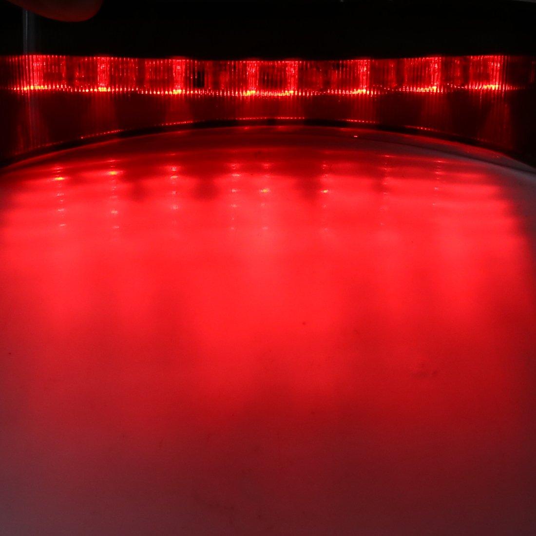 sourcing map LED Rojo Luz Trasera de Stop de Parada Carcasa Negra para Moto YZF R1 2002-2003