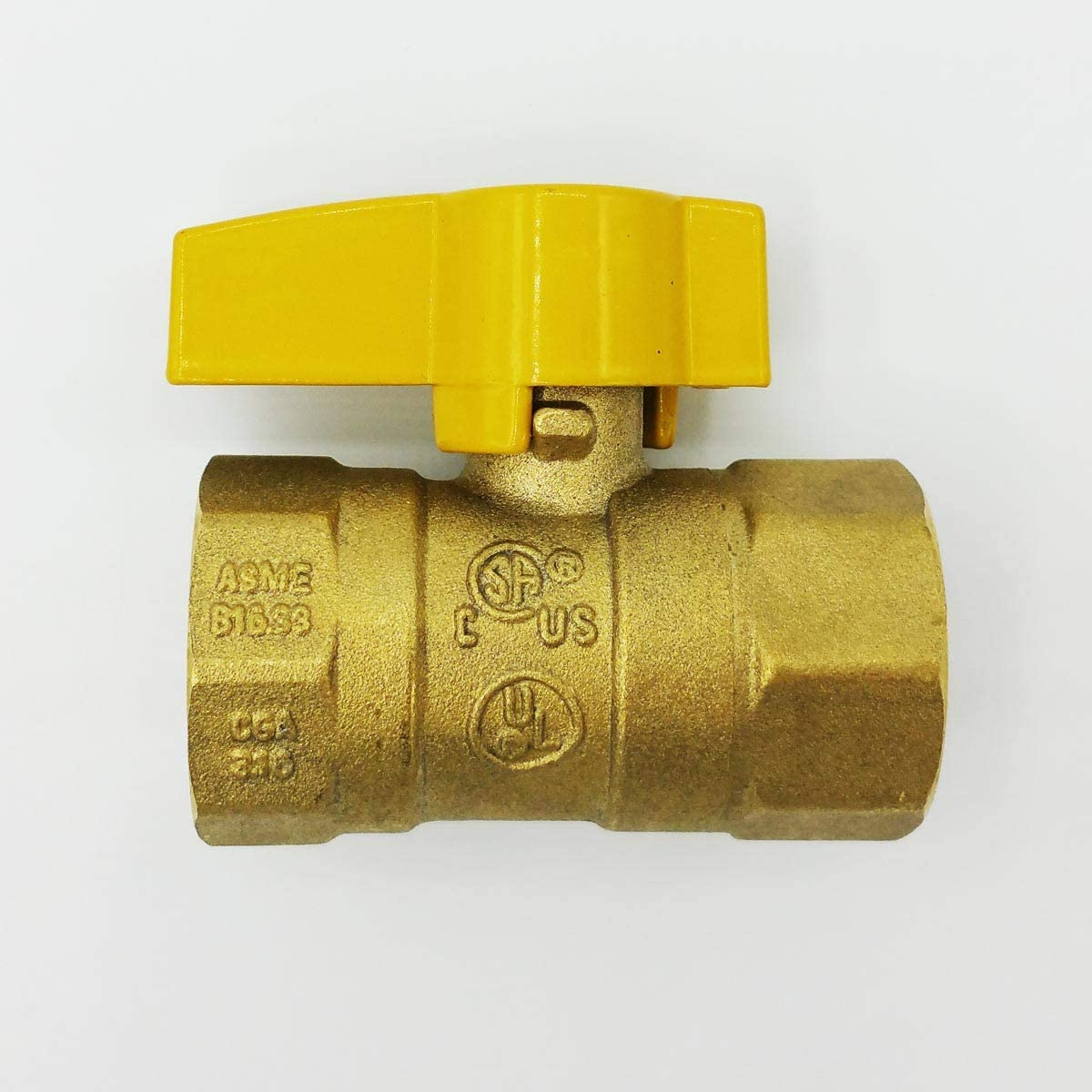 5//8 Inch Outer Diameter With Male /& Female Fittings And Shut Off Valve Cambridge Yellow Coated Gas Appliance Connector 36 Inch Long