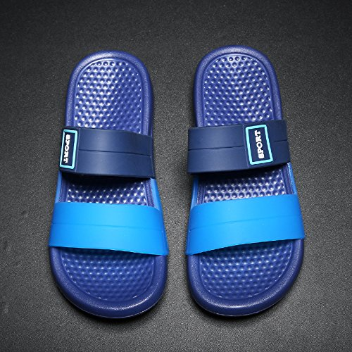 41 wild English summer Casual fashion Slippers male fankou drag slip non and cool sandals men's blue qF06x