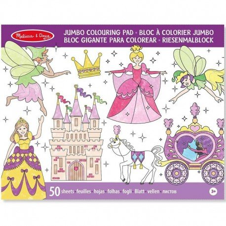 Coloriage Princesse Grand Format.Melissa And Doug Melissa Bloc De Coloriage Grand Format 50 Pages Princesses 14263
