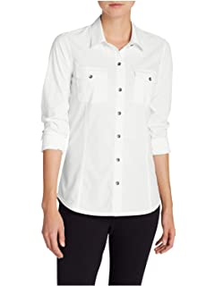 b52c218f5f Eddie Bauer Women's Departure Sleeveless Shirt - Print at Amazon ...