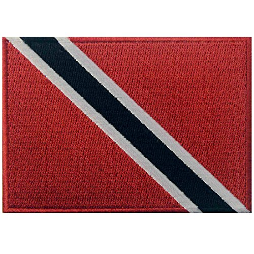 (Trinidad and Tobago Flag Embroidered Patch Caribbean Iron On Sew On National Emblem)