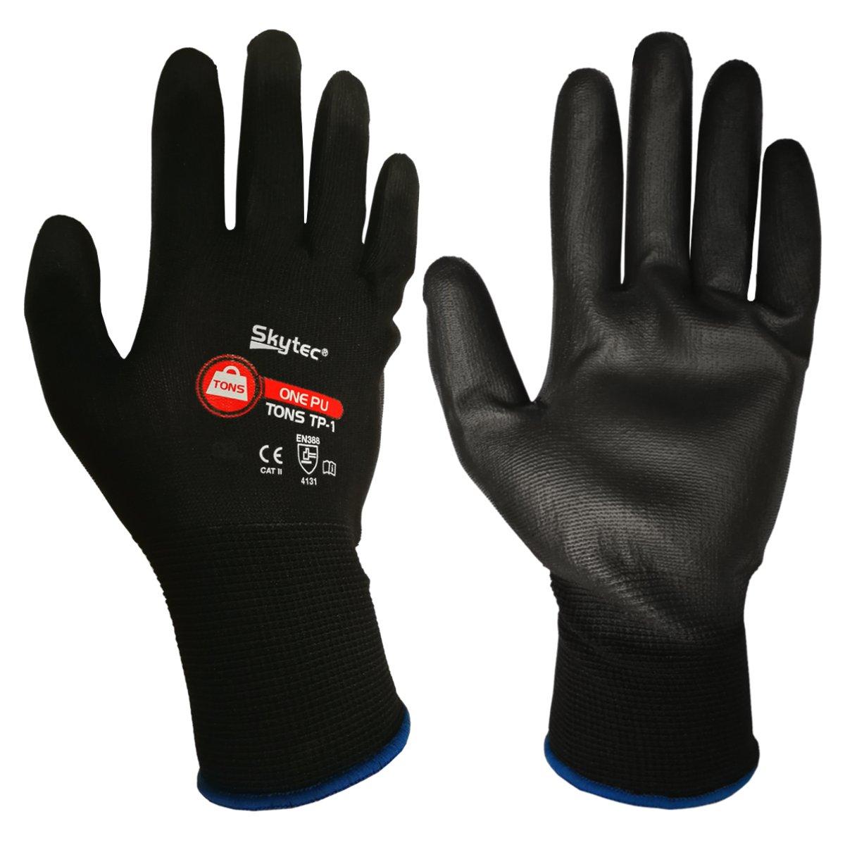 XXL 10, 8//M 10-120Pk Skytec Tons PU Palm Handling Work Gloves M