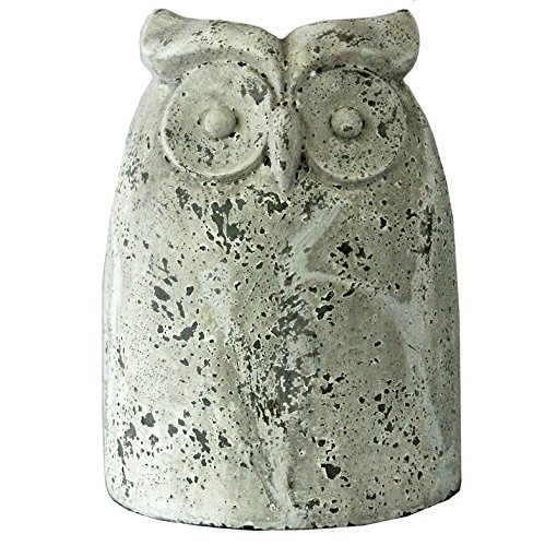 (Michael Carr Designs 7525LA259 Owl Antique Yard Art, White, Large)