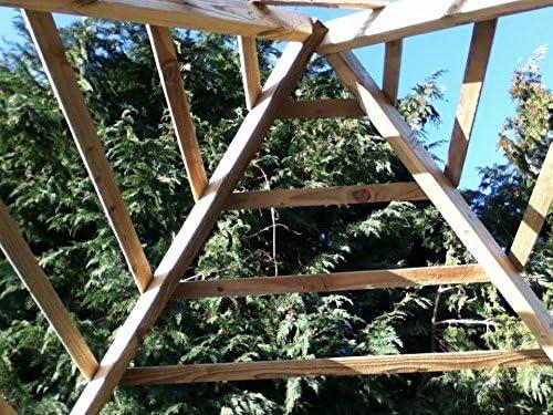 De madera jardín Gazebo Gazebo de madera a medida: Amazon.es: Jardín