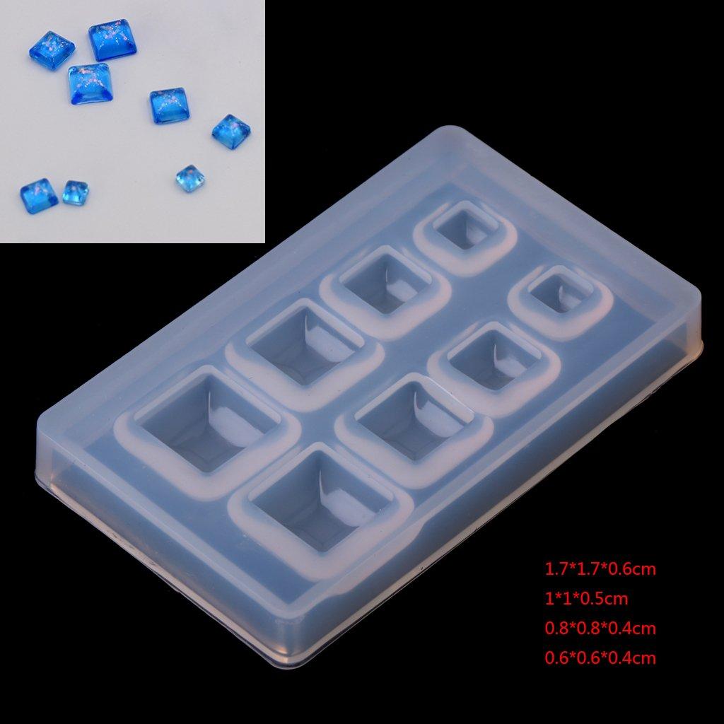 Bijoux Artisanat Baiyao Cube Bijoux Moules de R/ésine Silicone Molds Bijoux DIY Silicone Forme Resin pour D/écoration Crafting