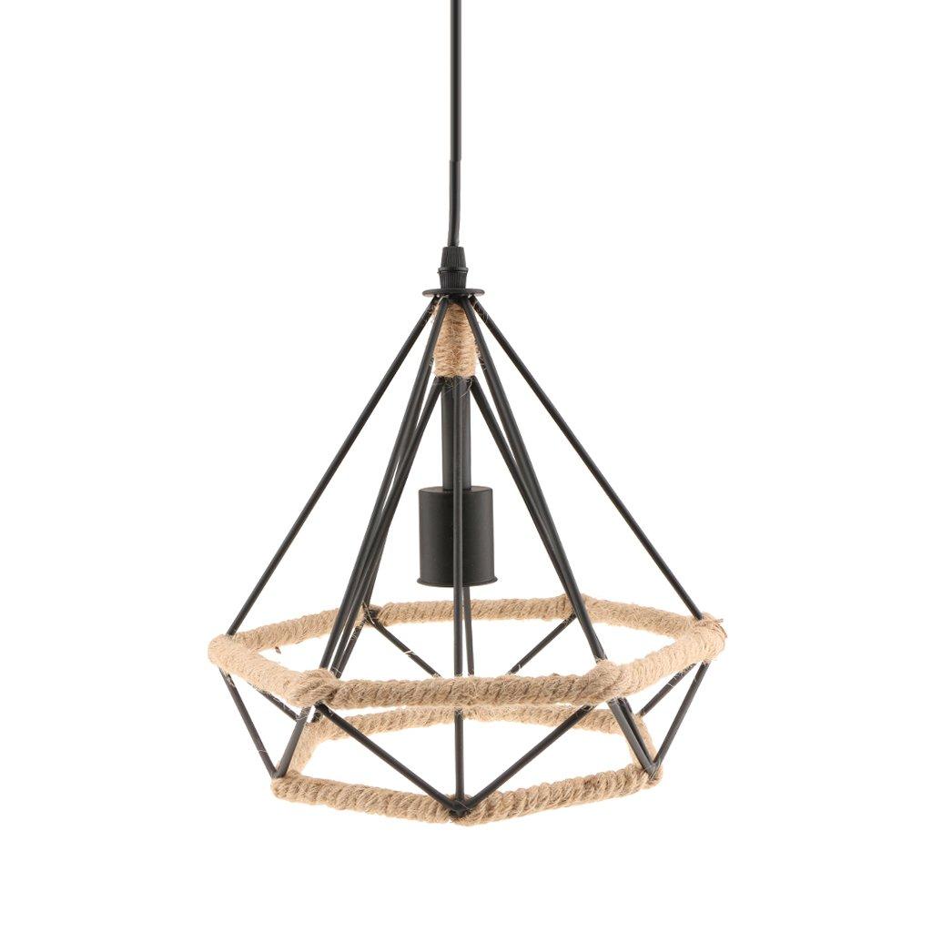 Gazechimp Metall Lampenschirm Rahmen E27 Steckdose Deckenlampe ...