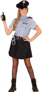NET TOYS Disfraz Infantil de policía Niña Agente policial M 140 cm ...