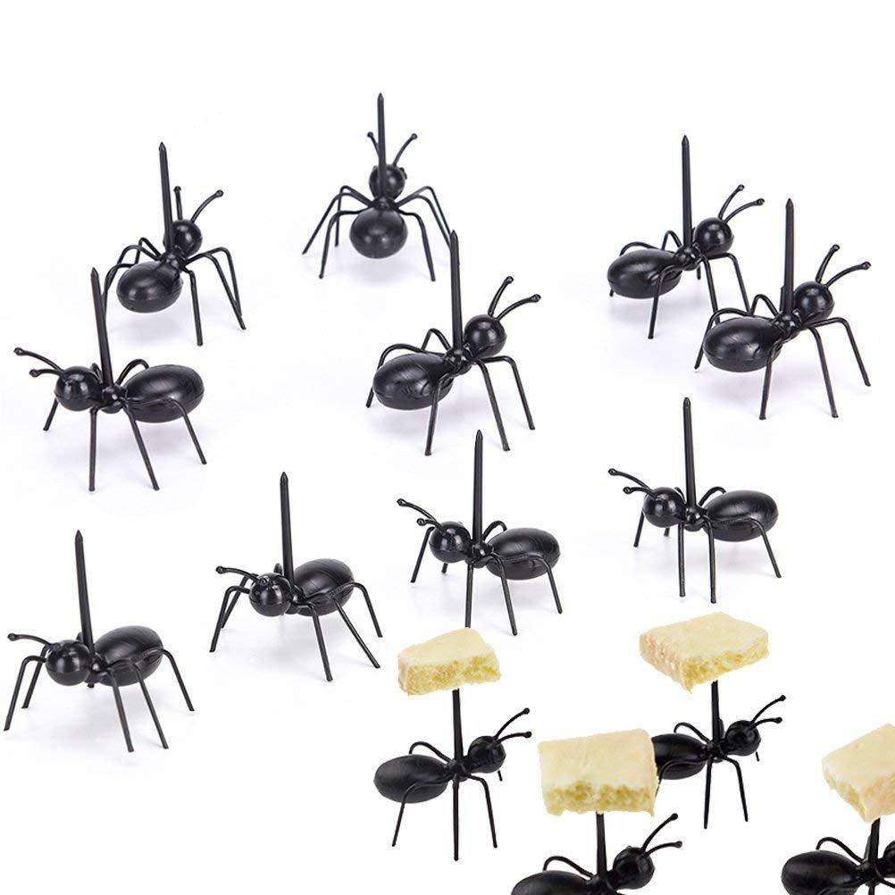 36Pcs Fruit Toothpick Dessert Forks, Plastic Ants Animal Appetizer Forks