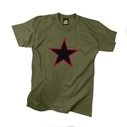 Rothco T-Shirt/China Red Star - Olive Drab/XX-Large