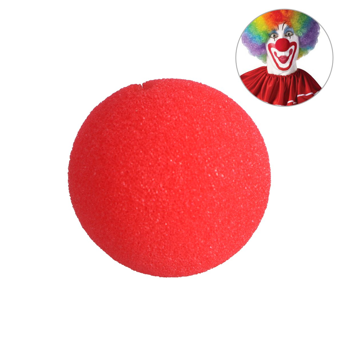 Tinksky Foam Clown Nose One Size Red Nose Clown for Halloween Masquerade Cospaly Halloween Costumes Red