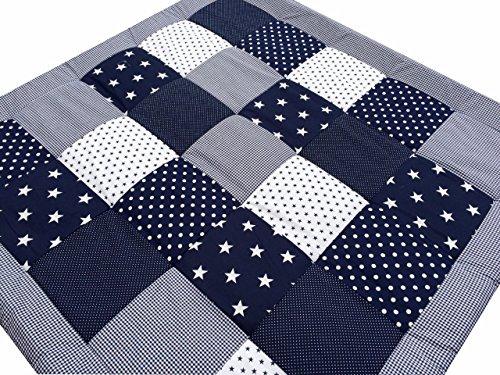 79 90 patchwork krabbeldecke spieldecke fr mdchen und jungen extra gro und weich gepolstert. Black Bedroom Furniture Sets. Home Design Ideas