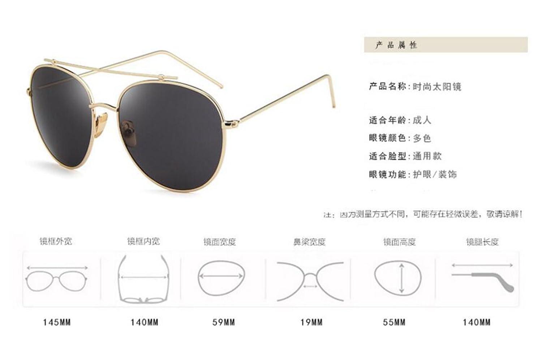 Sucastle Koreanische Version Stern mit dem dem dem Absatz Sonnenbrille Mode Metall Sonnenbrille Trend Big Box Sonnenbrille Retro Gläser Metall AC QWERT B071JDJ5N8 Sonnenbrillen Erschwinglich 770140