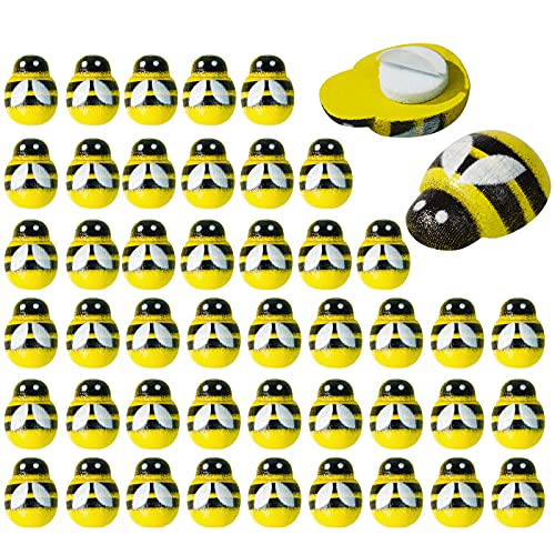 400PCS 작은 나무 꿀벌 자기 접착 나무 꿀벌 EMBELLISHMENTS FLATBACK 나무 꿀벌 DIY 공예 스크랩북 파티 장식에 대 한 꿀벌 스티커를 그린