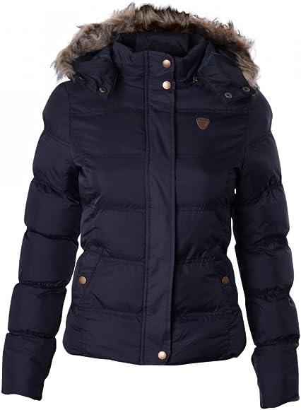 Ladies Womens Brave Soul Designer Fur Hooded Short Jacket Quilted Puffer Padded Coat UK 14 US 12 AUS 16 EU 42 Large Black