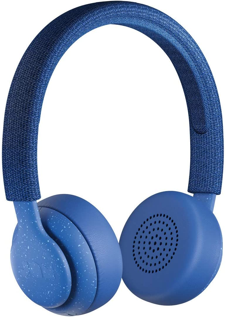Been There, On-Ear Bluetooth Headphones  14 Hour Playtime, Hands-Free Calling, Sweat and Rain Resistant IPX4 Rated, 50 ft. Range  JAM Audio Blue (Renewed)