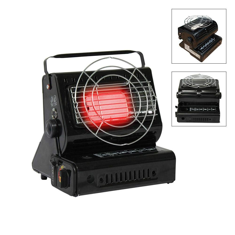 Portable Gas Butane Heater Or Stoves Dual use For Outdoor Camping Trip Keeping Warm Boiling Water Or Cooking CampHiking®