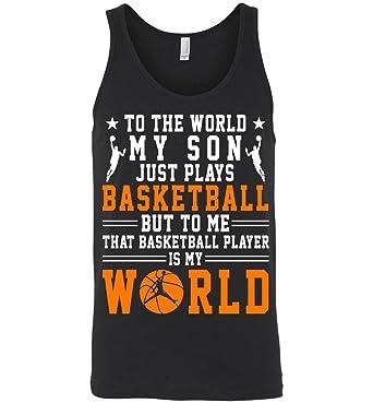 Amazon Com Basketball Tank Tops My Son Plays Basketball That