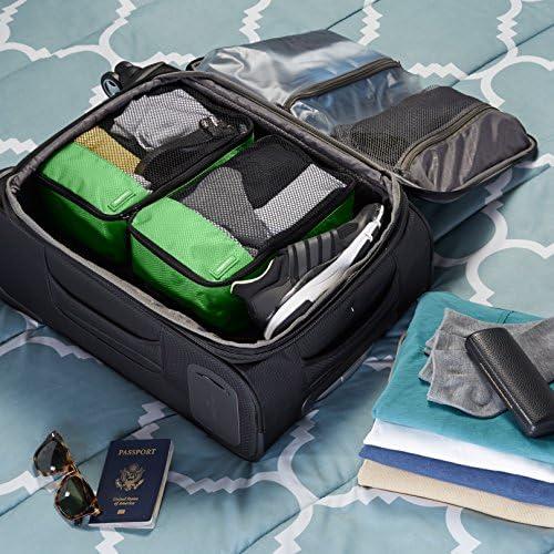 AmazonBasics - Bolsas de equipaje pequeñas (4 unidades), Verde