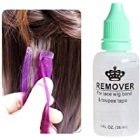 Wig Adhesive Remover, Leegoal Release Tape Hair Extension Remover Fastest Easiest Adhesive Remover for Poly, Lace Hairpiece, Wig, Toupee Systems