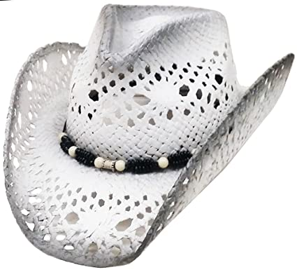 Image Unavailable. Image not available for. Colour  Modestone Unisex Straw  Cowboy Hat ... bac3b5e677f2