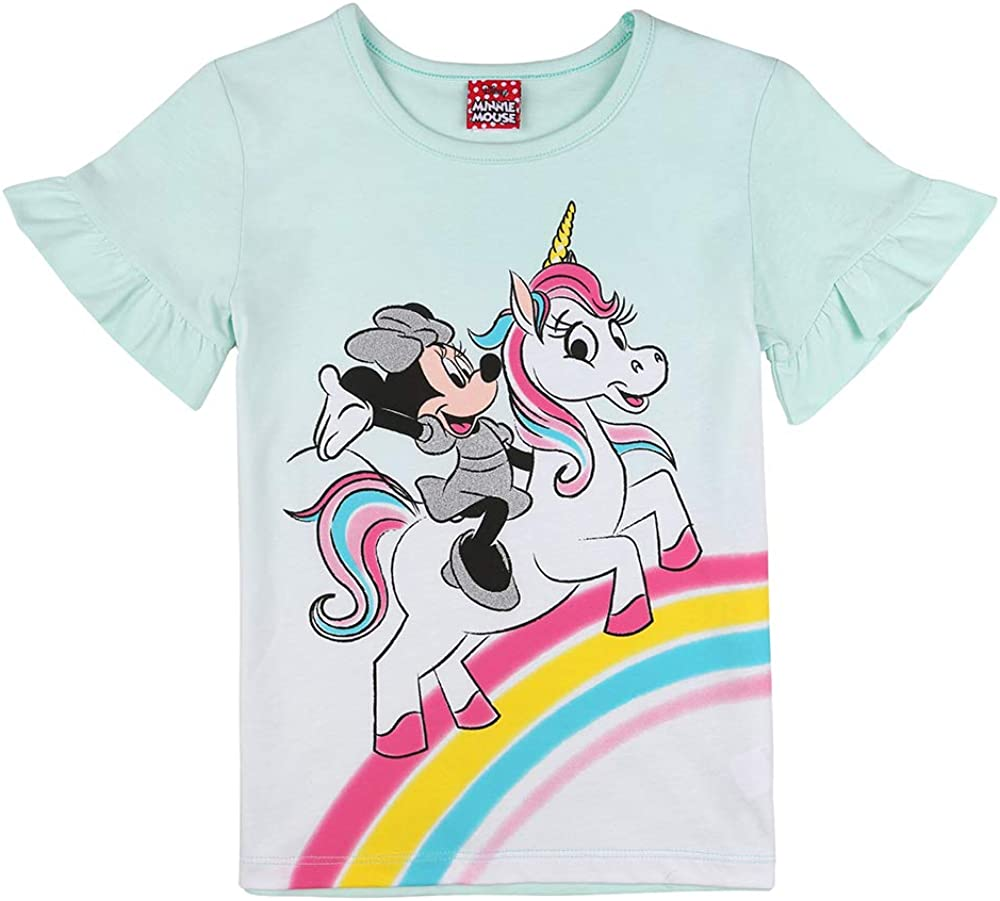 Disney Ragazza Minnie Mouse T-Shirt Menta