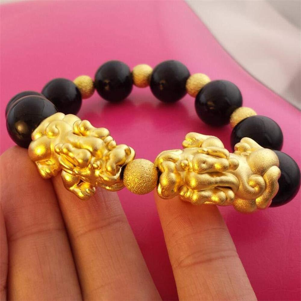 Zicue Stylish Charming Bracelet Exquisite Ornaments Natural Black Yao Stone Pixiu bracelet men and women gifts