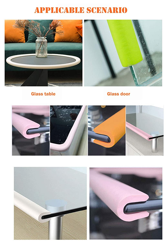 Blue M2cbridge U Shape Extra Thick Furniture Table Edge Protectors Foam Baby Safety Bumper Guard 6.5 Ft