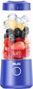 Mulli 13.5-Oz. Rechargeable Portable Blender with Six Blades