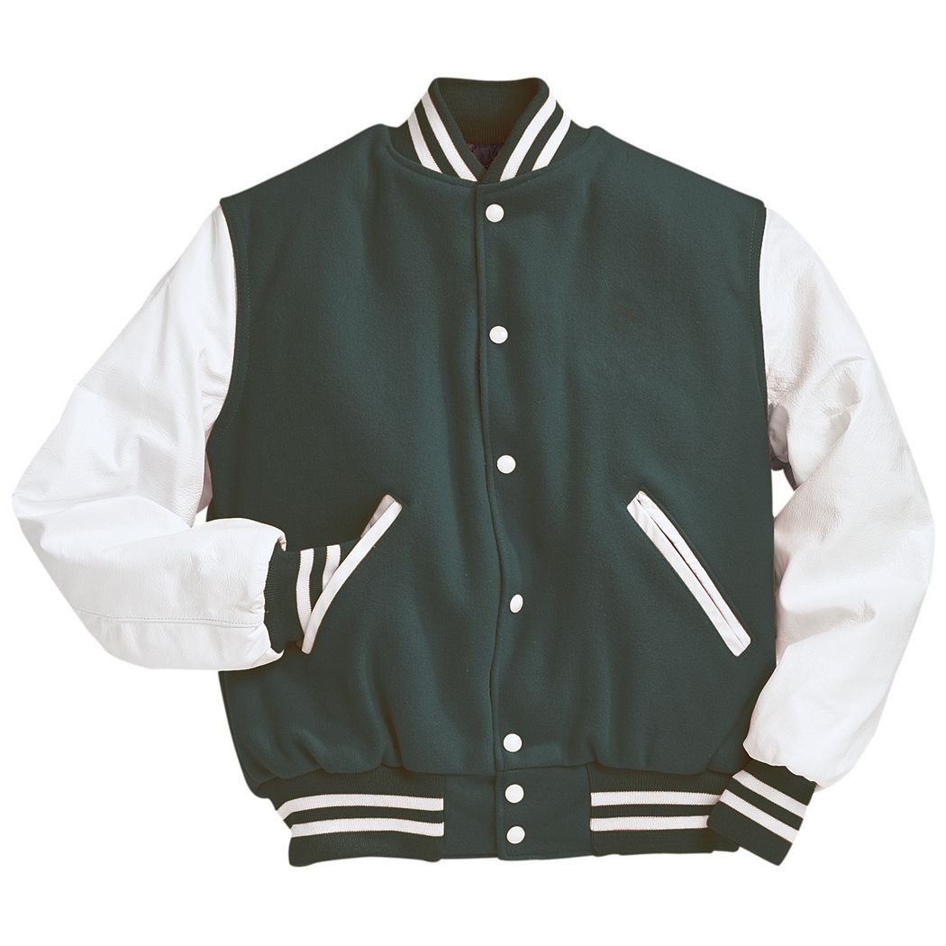 Amazon.com: Varsity Wool with Leather Sleeves Jacket From Holloway ...