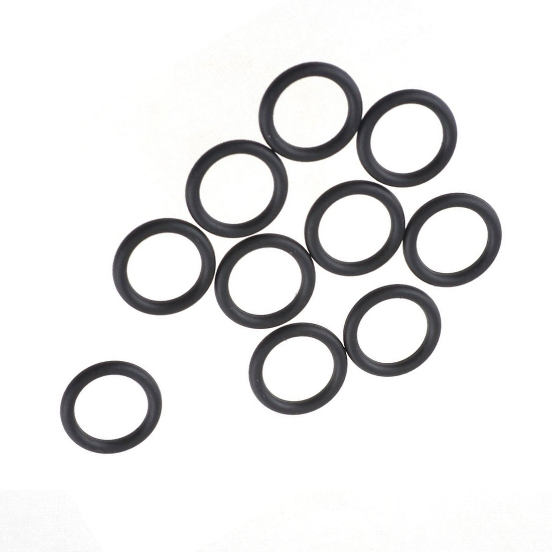 R O Shaped Dichtung Unterlegscheiben TOOGOO 10 Stueck Schwarz Gummi Oil Seal O Shaped Ringe Dichtung Unterlegscheiben 10x2 mm