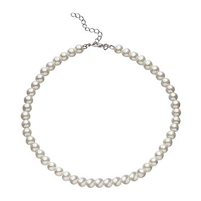 46292ad1e31b BABEYOND Collar Redondo de Perlas de Imitación de Perlas Collar de Perlas  de Boda para Novias