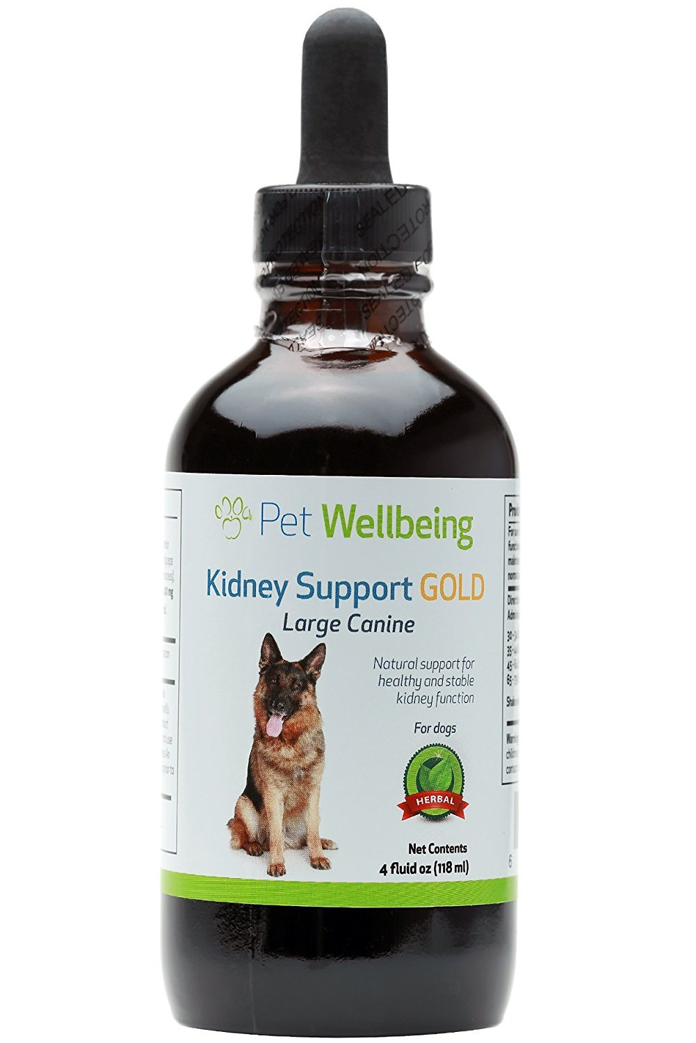 Pet Wellbeing - Kidney Support Gold for Dogs - Natural Support for Canine Kidney Health (4 Ounce)