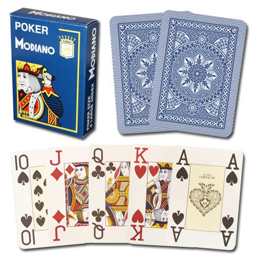 - Modiano Cristallo 100% Plastic Cards - 2 Decks!