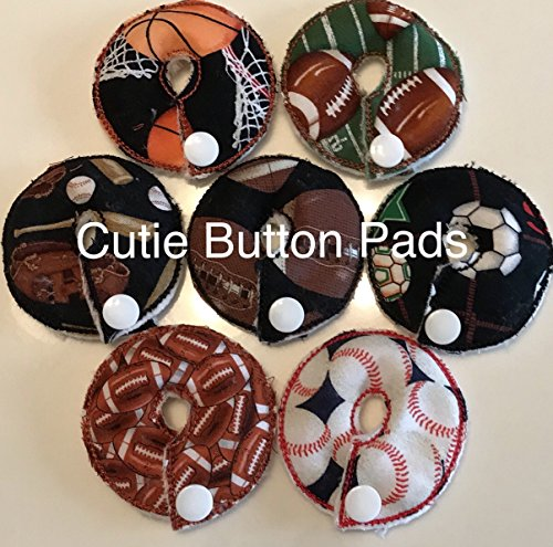 Cutie Button Pads G/j Tube Pad 7 Pack ( Sports)