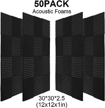 Amazon.com: Paquete de 50 cuñas de espuma para estudio de ...