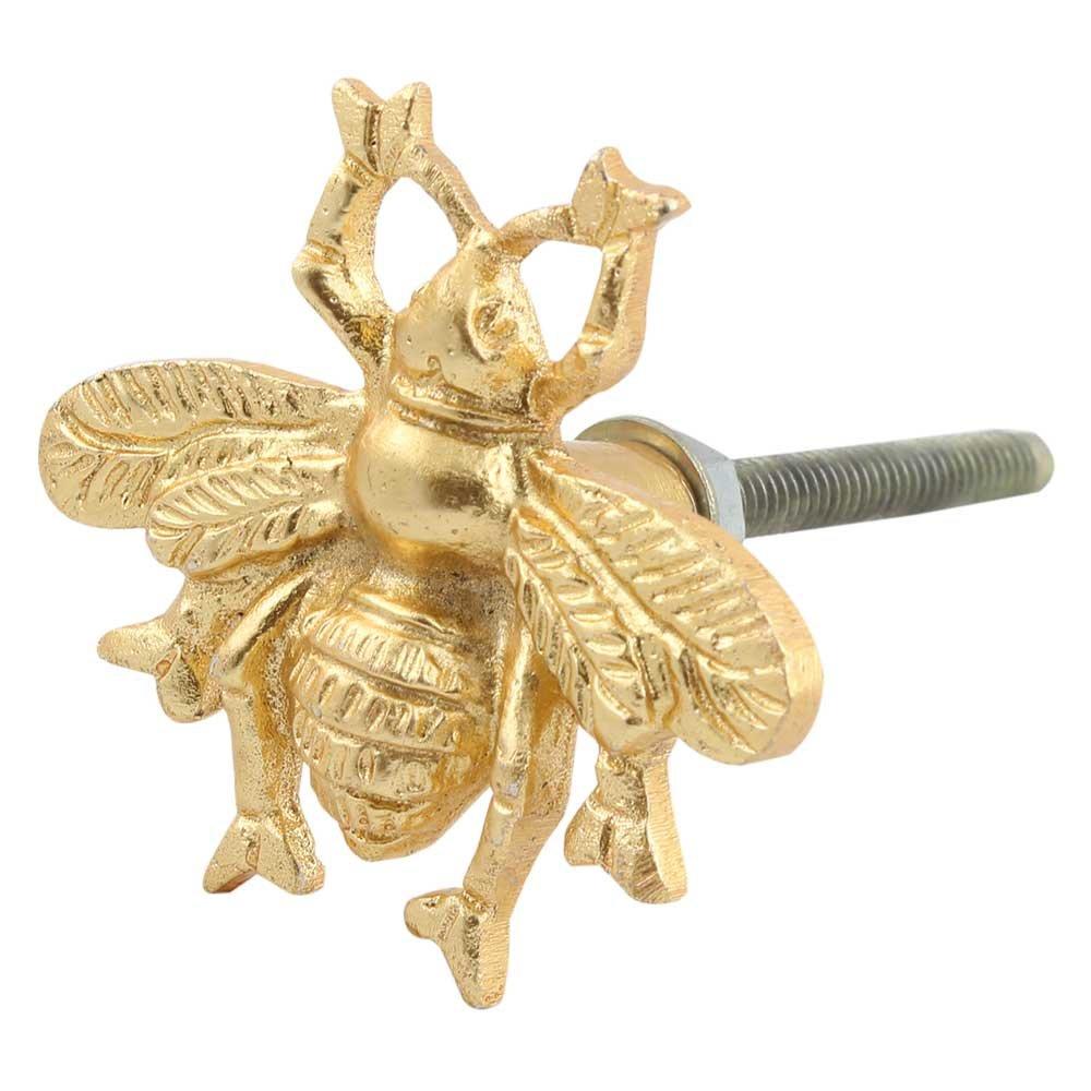 IndianShelf Handmade 8 Piece Aluminum Golden Bee Artistic Drawer Knobs/Cabinet Pulls by Indian Shelf