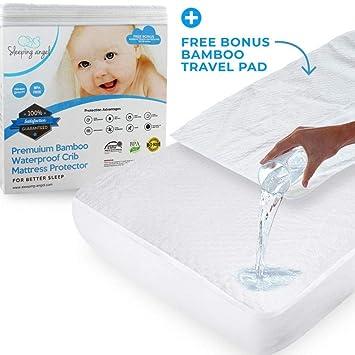 Amazon.com: Dormir, Ángel, cuna Protector de colchón: Baby