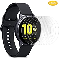 Samsung Galaxy Watch Active 2 44mm Screen Protector Glass, IVSO Premium 9H Hardness HD Tempered-Glass Film Screen Protector ONLY for Samsung Galaxy Watch Active 2 44mm, 6 Pack