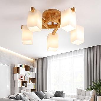 Attraktiv CAIXIA Unterputz Nordic Wind Wohnzimmer Logs Deckenleuchten Modern Minimalist  Schlafzimmer Holz Kunst Deckenleuchte (mit