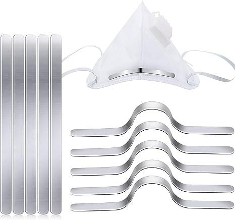 Nose Bridge Strip 100 PCS Aluminum Strip Nose Bridge 90 MM Self Adhesive Metal Flat Nose Clips for DIY Handmade Accessories Crafts